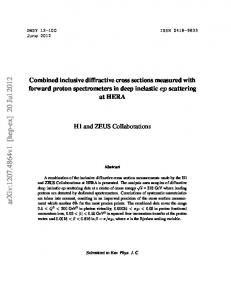 Combined inclusive diffractive cross sections measured with forward ...