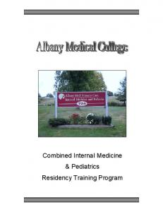 Combined Internal Medicine & Pediatrics Residency ...