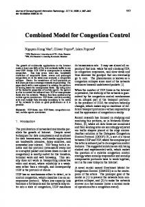 Combined Model for Congestion Control