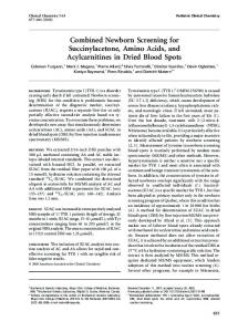 Combined Newborn Screening for ... - Clinical Chemistry