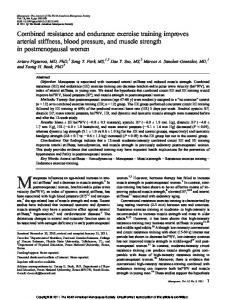Combined resistance and endurance exercise training improves ...