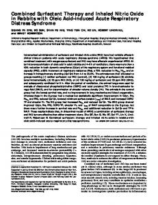 Combined Surfactant Therapy and Inhaled Nitric Oxide ... - ATS Journals