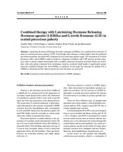 Combined therapy with Luteinizing Hormone Releasing Hormone ...