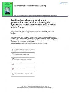 Combined use of remote sensing and geostatistical