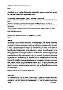 Combined use of weather forecasting and satellite ... - Semantic Scholar