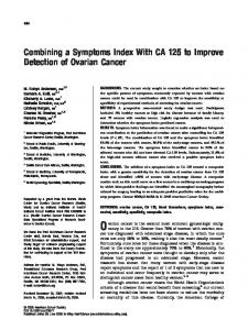 Combining a symptoms index with CA 125 to ... - Semantic Scholar