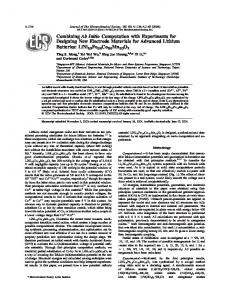Combining Ab Initio Computation with Experiments for Designing New