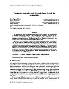 Combining Adaptive and Dynamic Local Search ... - Semantic Scholar
