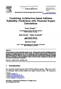 Combining Architecture-based Software Reliability ... - Semantic Scholar