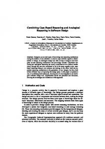 Combining Case-Based Reasoning and ... - Semantic Scholar