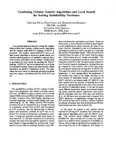 Combining Cellular Genetic Algorithms and Local Search for Solving ...