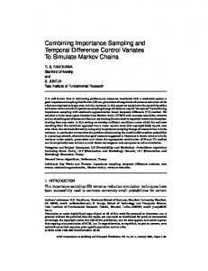 Combining Importance Sampling and Temporal Difference Control ...