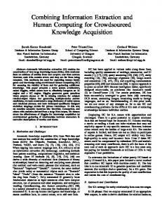 Combining Information Extraction and Human Computing for ...