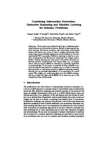 Combining Information Extraction, Deductive Reasoning and Machine ...