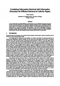 Combining Information Retrieval with Information Extraction for ...