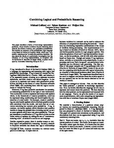 Combining Logical and Probabilistic Reasoning