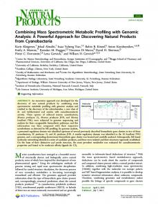 Combining Mass Spectrometric Metabolic Profiling ... - ACS Publications