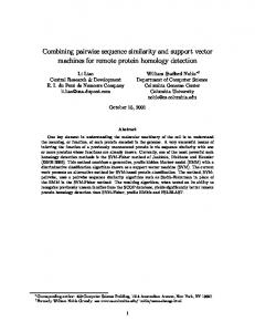 Combining pairwise sequence similarity and support ... - CiteSeerX