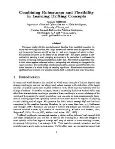 Combining Robustness and Flexibility in Learning Drifting ... - CiteSeerX