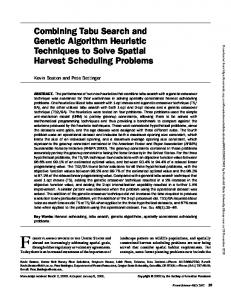 Combining Tabu Search and Genetic Algorithm