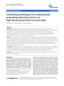 Combining techniques for screening and evaluating ... - CiteSeerX