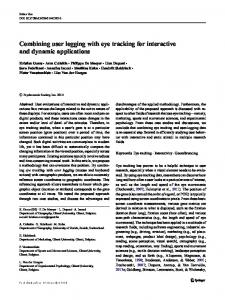 Combining user logging with eye tracking for interactive and dynamic ...