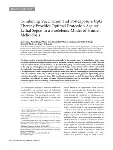Combining Vaccination and Postexposure CpG Therapy Provides ...