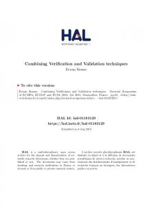 Combining Verification and Validation techniques - HAL-Inria