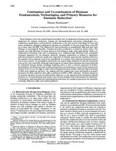 Combustion and Co-combustion of Biomass ... - Verenum
