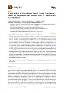 Combustion of Flax Shives, Beech Wood, Pure Woody Pseudo ... - MDPI