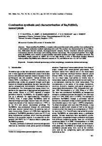 Combustion synthesis and characterization of Ba2NdSbO6 nanocrystals