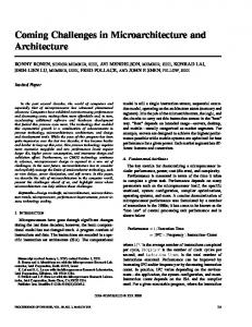 Coming challenges in microarchitecture and architecture
