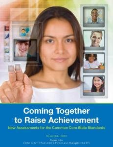 Coming Together to Raise Achievement