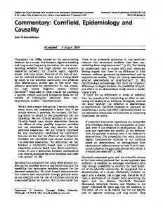Commentary: Cornfield, Epidemiology and Causality - Oxford Journals