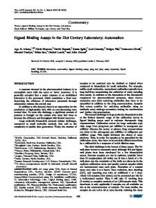 Commentary Ligand Binding Assays in the 21st Century Laboratory ...