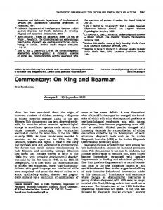 Commentary: On King and Bearman - Oxford Academic