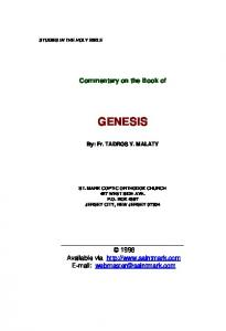 Commentary on the Book of Genesis