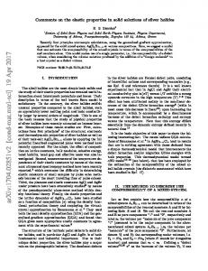 Comments on the elastic properties in solid solutions of silver halides