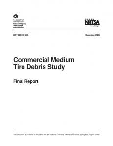 Commercial Medium Tire Debris Study Final Report