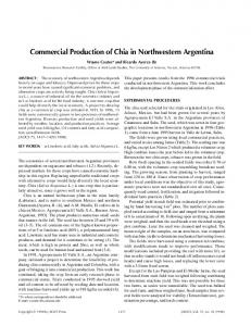 Commercial production of chia in Northwestern Argentina - Springer Link