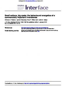 commercially important invertebrate Small actions, big ...