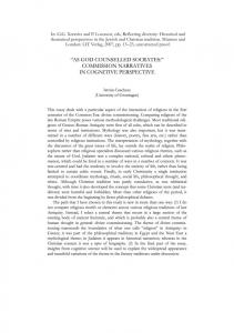 COMMISSION NARRATIVES - Religion and Cognition