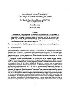 Commitment Under Uncertainty: Two-Stage Stochastic ... - CiteSeerX