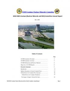 Committee 2018 EMD Uranium (Nuclear Minerals ...