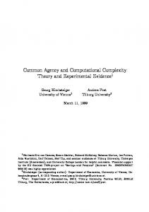Common Agency and Computational Complexity