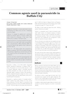 Common agents used in parasuicide in Buffalo City