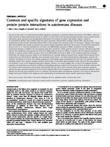 Common and specific signatures of gene expression and protein ...