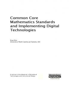 Common Core Mathematics Standards and