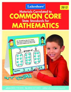 Common Core State Standards for Mathematics - Lakeshore ...