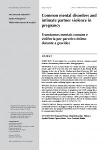 Common mental disorders and intimate partner violence in ... - Scielo.br